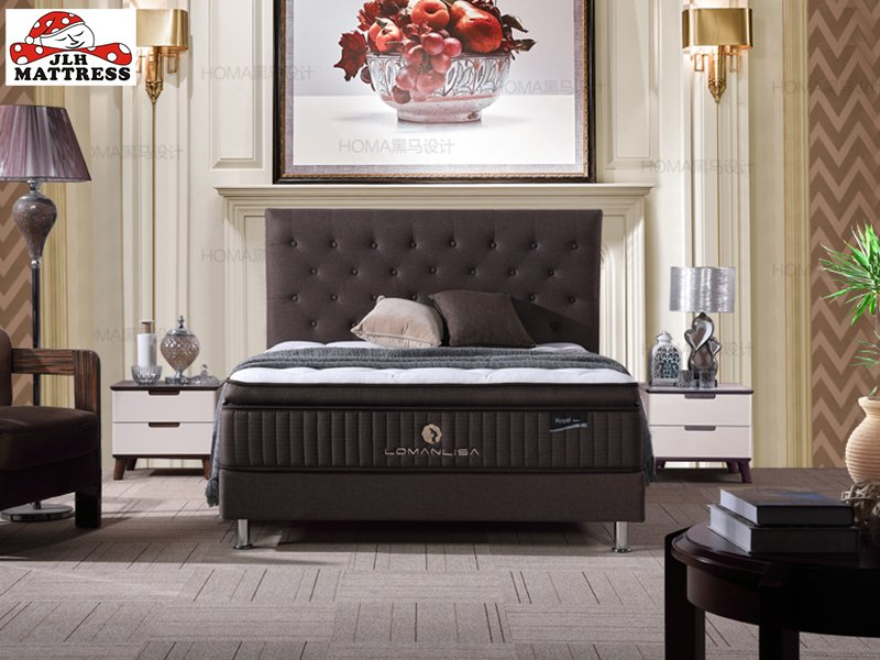 JLH 33PA-13 Hot sale luxury design latex with pocket coil royal mattress Latex Foam Mattress image8