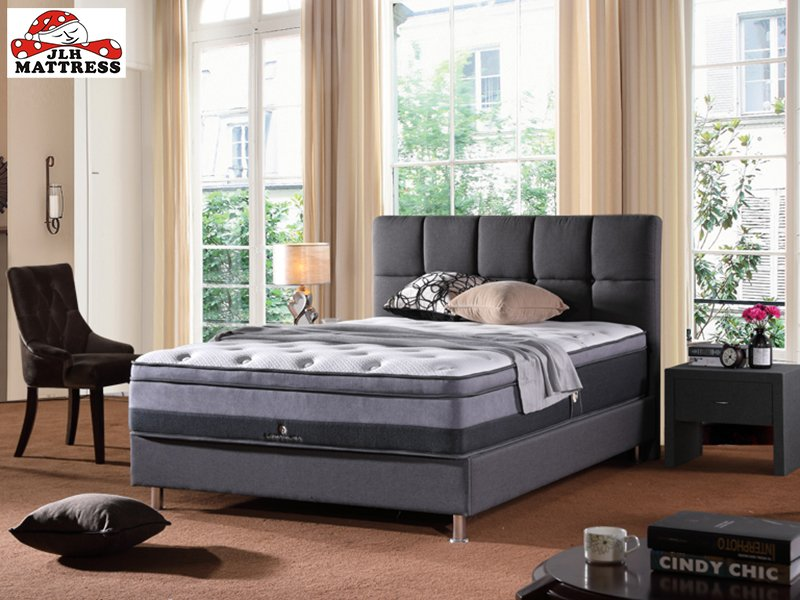 JLH 34PA-54 Factory Natural Latex Euro Top Pocket Spring Mattress Latex Foam Mattress image4
