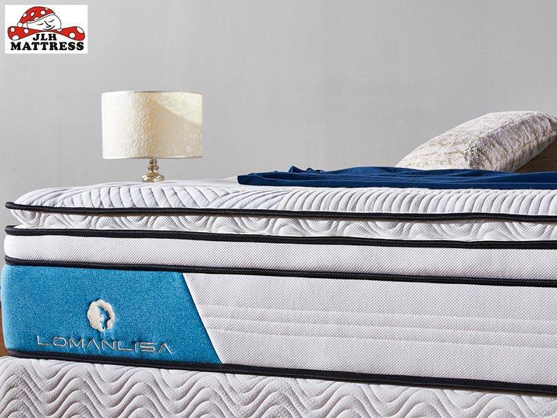 4BPA-03 Perfect Sleep Wool + Gel memory foam Euro top mattress Vacuum Packed