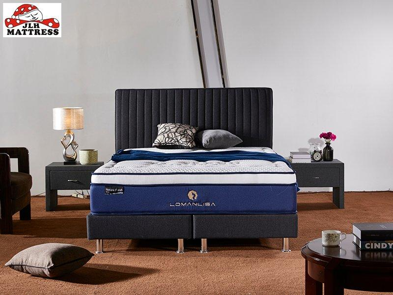 34PA-57 Natural Latex And Memory Foam Euro Top Mattress Chinese Factory