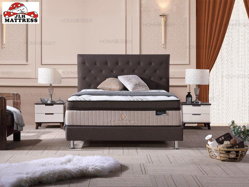47AA-13 Deluxe Mini Pocket Spring Euro top mattress China Factory