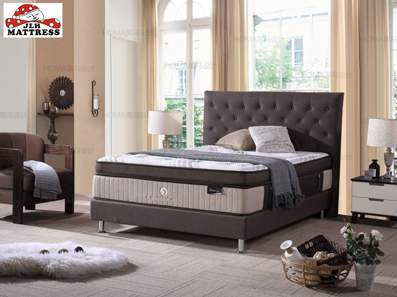 JLH 47AA-13 Deluxe Mini Pocket Spring Euro top mattress China Factory Double Spring Mattresses image5
