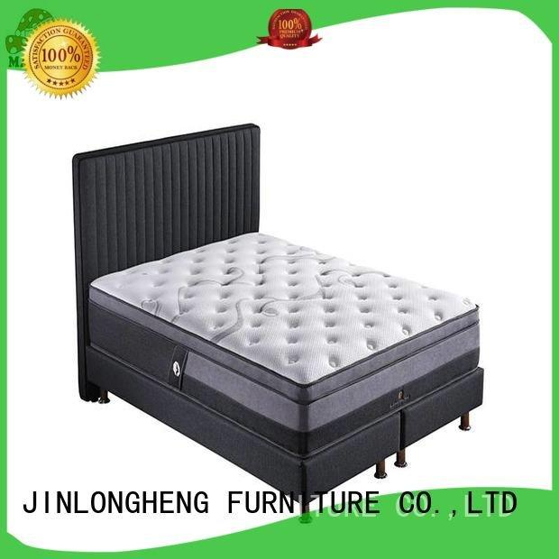 JLH Brand perfect coil king size latex mattress top wool