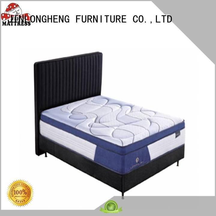 JLH Brand turfted design latex gel memory foam mattress coil latex