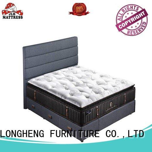 JLH Brand design royal king size latex mattress wool hand