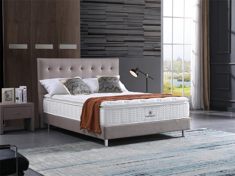 Fansace 32PA-01 Hotel Grade Mattress With Memory Foam Pocket Spring Charcoal Bamboo
