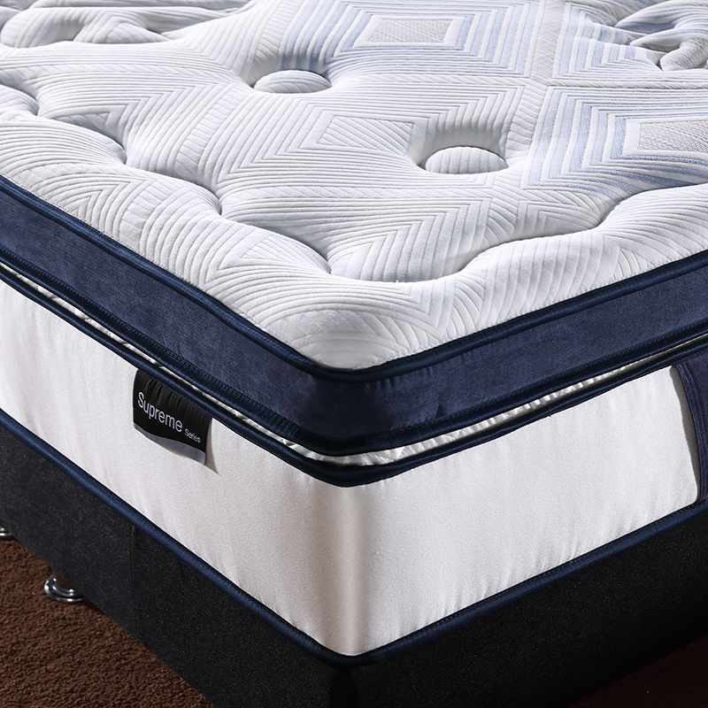 JLH Box Top Design Anti Mite 5 Zones Pocket Spring with Wool Dacron Foam and Gel Memory Foam Hybrid Mattress image4