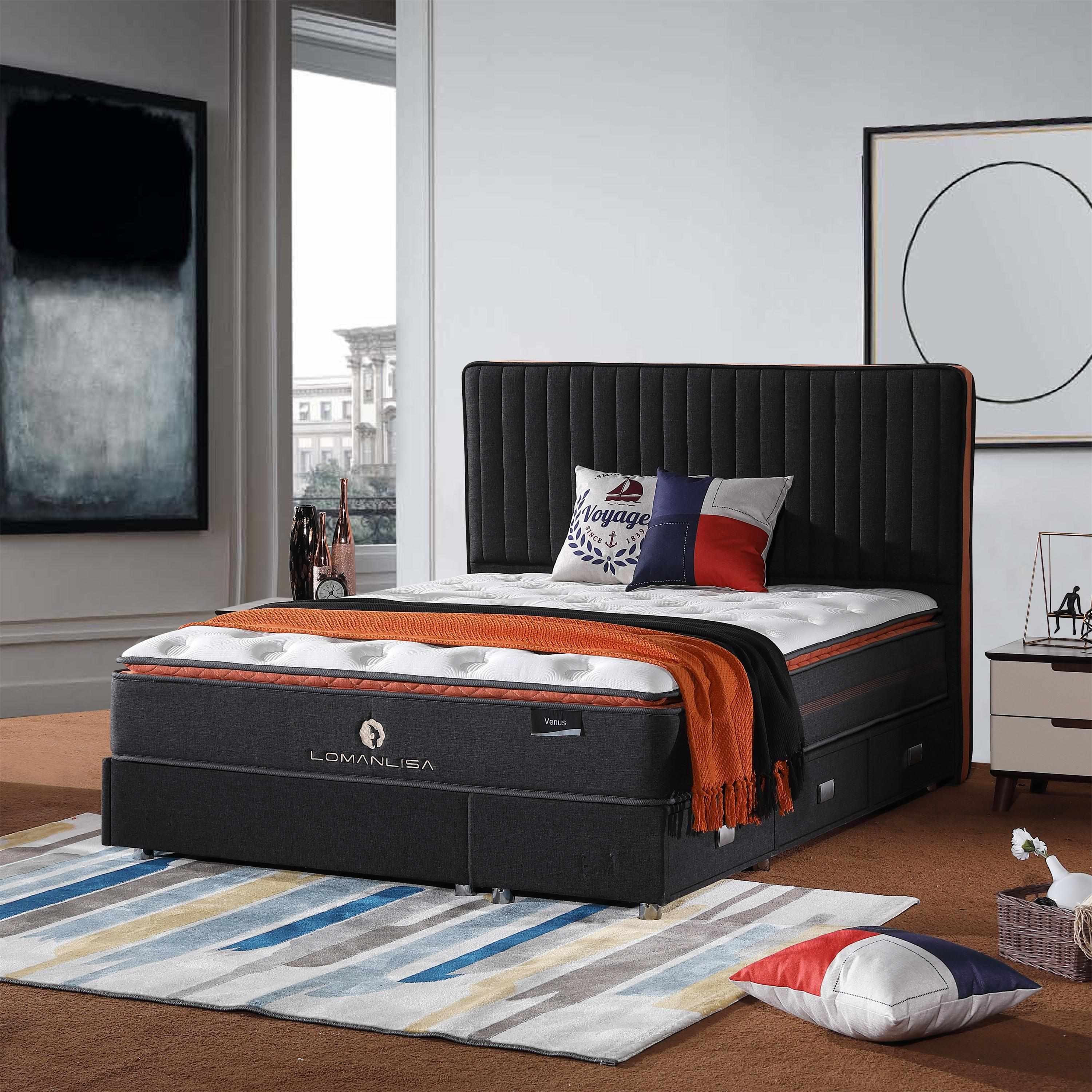JLH turfted sprung mattress for sale for hotel-2