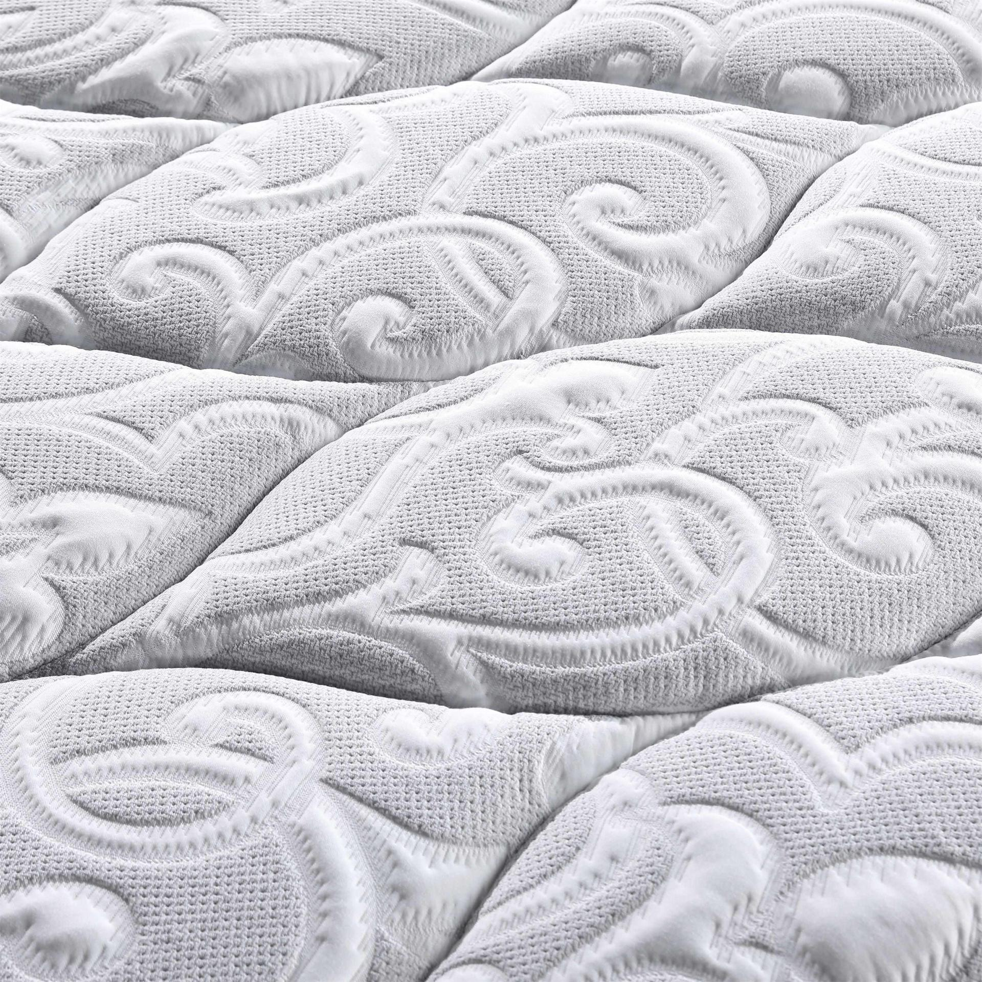 Double Layers 5 Zoned Pocket Spring Mattress Luxury Design With Convoluted Foam