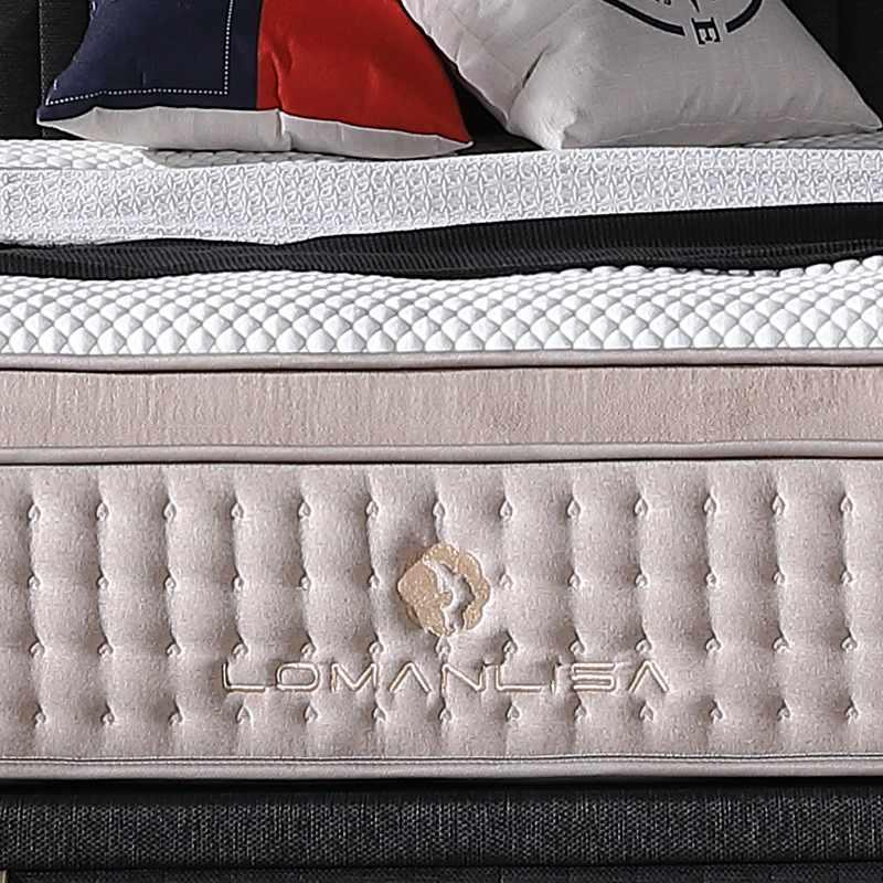 2018 Beautiful Design Hand Tufted Mattress Gel Memory Foam Double Layers Pocket Spring Mattress with High Quality Knitted Fabric