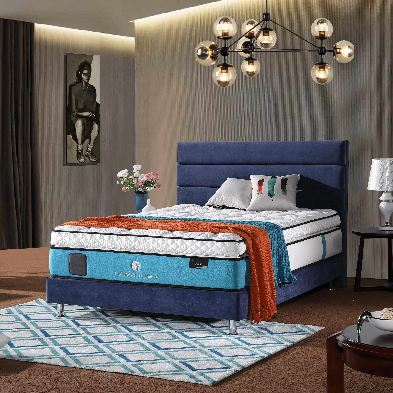 JLH Luxury Cooling Gel Memory Foam 5 Zoned Pocket Spring Mattress with Euro Top Design Hybrid Mattress image3