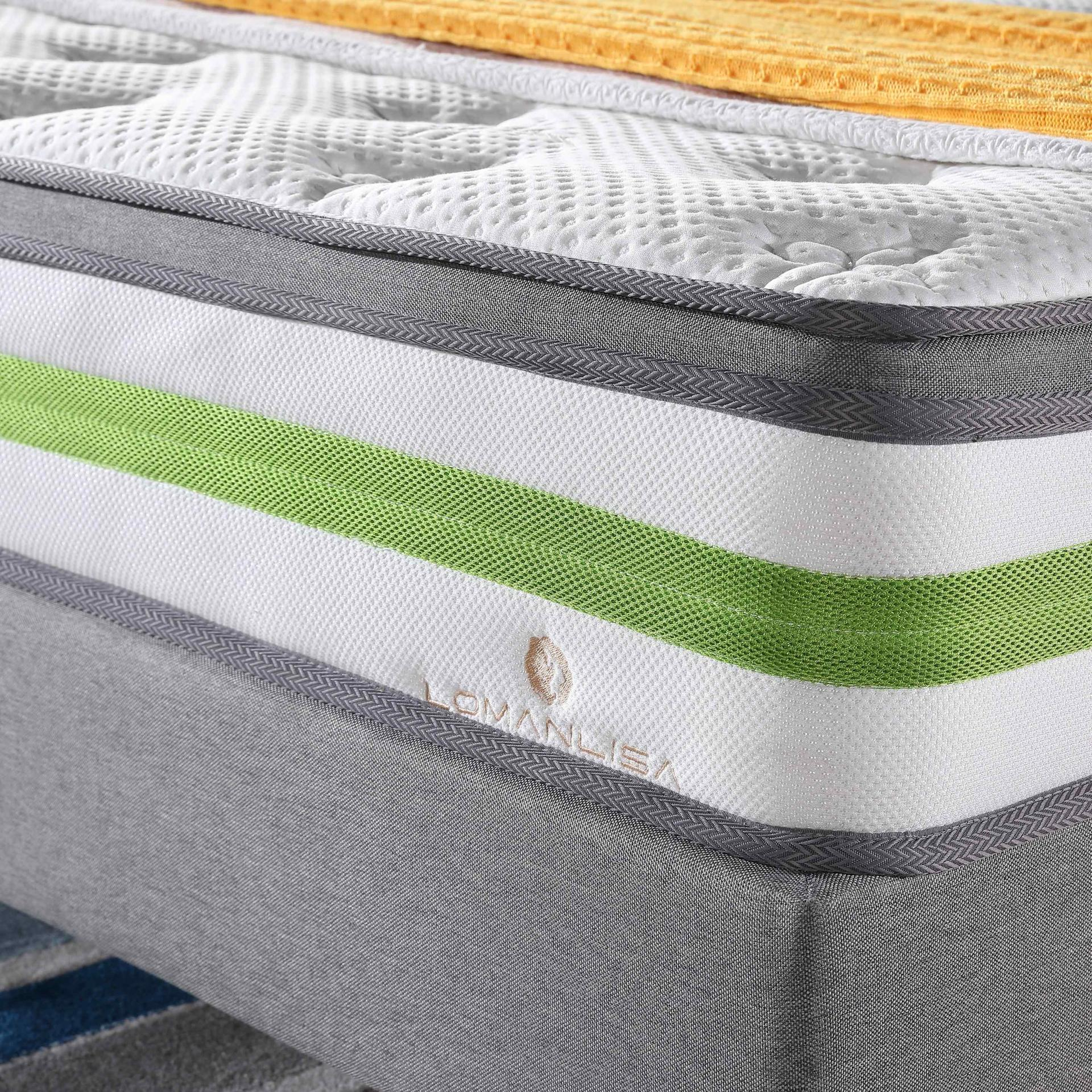 Euro Top Design Cooling Bamboo Fabric Anti-Mite Rolled Mattress With Convoluted Foam