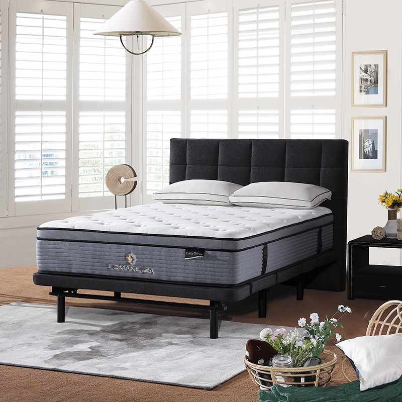 JLH Euro Top Style Rolled 5 Zones Packing Pocket Spring With Convoluted Foam Mattress In A Box image1