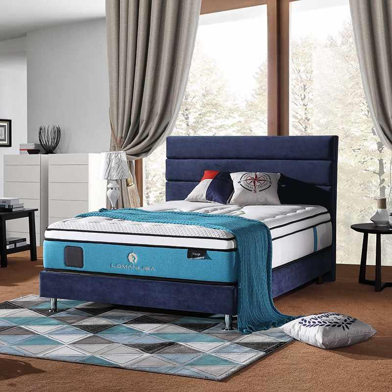 Luxurious Design 5 Zones Pocket Spring Mattress with Memory Foam and Natural Latex