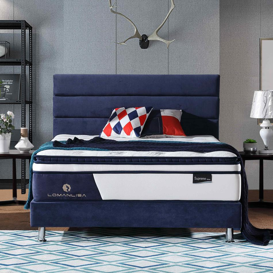 4APA-14 | 2018 New Design 5 Zoned Pocket Spring Euro Top Mattress in California King Queen Single Size