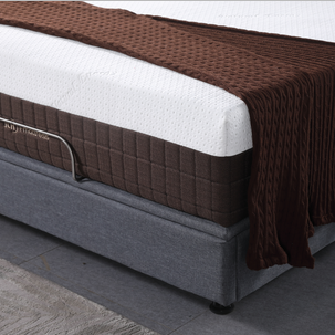 00FK-13 | JLH Furniture Signature Design - 12 Inch Chime Express Hybrid Innerspring - Soft Mattress - Bed in a Box - Queen - White and Brown