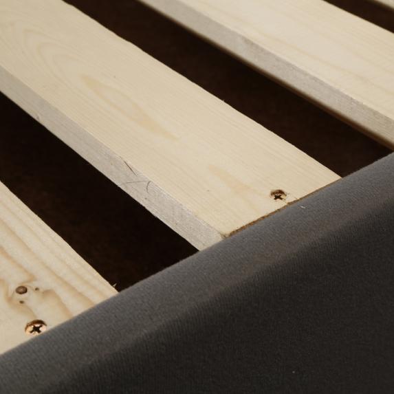CJ-7 Adjustable Fabric Wooden Bedroom Furniture Bed Frame Easy Assembly