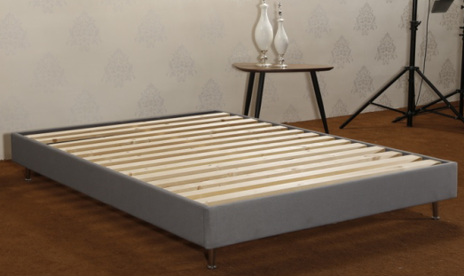 JLH-CJ-7 | JLH Modern Adjustable Fabric Wooden Bed Frame Easy Assembly Strong Wood Slat Support-1