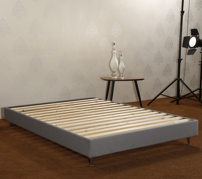 CJ-7 | JLH Modern Adjustable Fabric Wooden Bed Frame / Easy Assembly / Strong Wood Slat Support-4