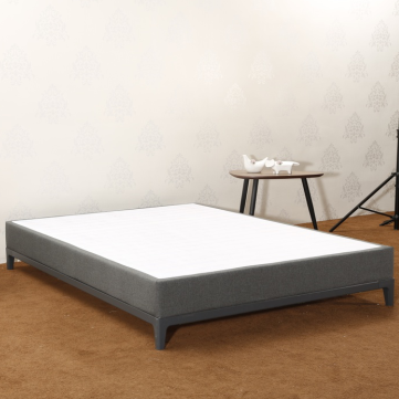 CJ-10 Matches MB3358 Strong Wood Slat Support Grey Full Size Contemporary Beds