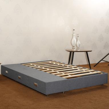 CJ-41 JLH Furniture Solid Wood Full Size Padded Bed Platform Storage Bed