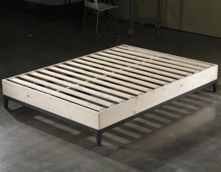 CJ-55 JLH Furniture Wood Frame With Wood Slat Support Grey Quality Beds