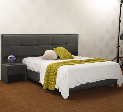 MB3358 Modern Bedroom Fabric Upholstered Modern Bed Wall Headboard