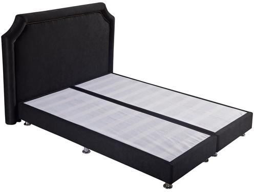 MB9903   Bedroom Furniture Upholstered Tufted Headboard, Black