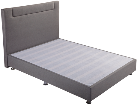 MB9904 Fabric Upholstered Full Bedroom Bed Headboard In Gray