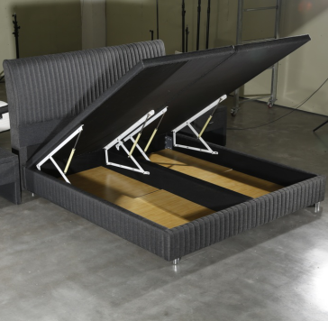 MB3372 | High capacity lift up storage bed frame with headboard,bunk lift up single double bed