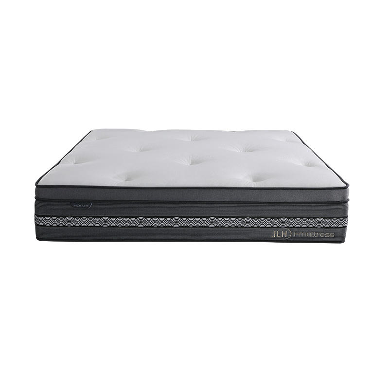 34PD-14 | INGENUITY 14 Inch Pure Hand Tufted Environmantally Double Layers Pocket Spring Mattress