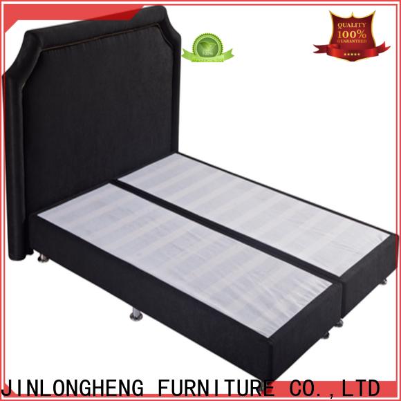 JLH grey wood platform bed Supply for bedroom