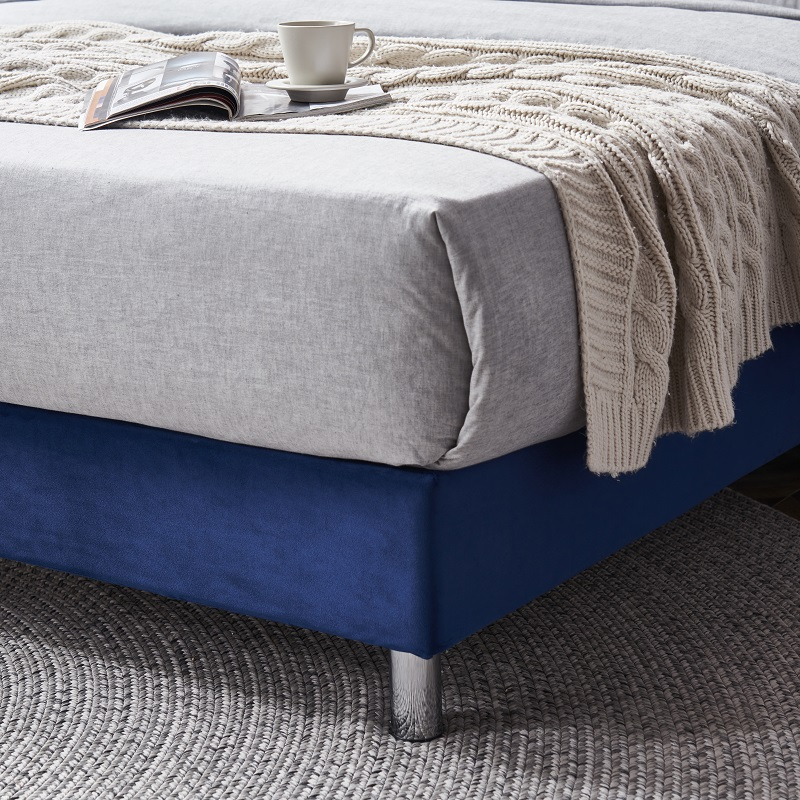 product-JLH-MB3331 TIME CAPSULE Bed Frame With Headboard Modern Furniture Tufted Fabric-img