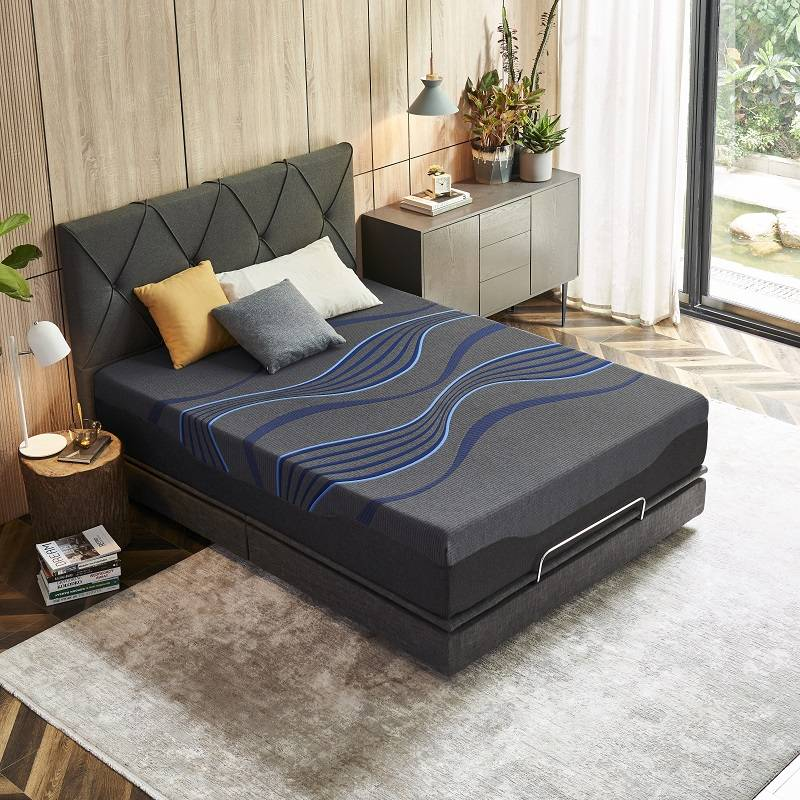 30MM-01 TIME CAPSULE Luxury Breathable Charcoal Memory Foam Mattress For Adult