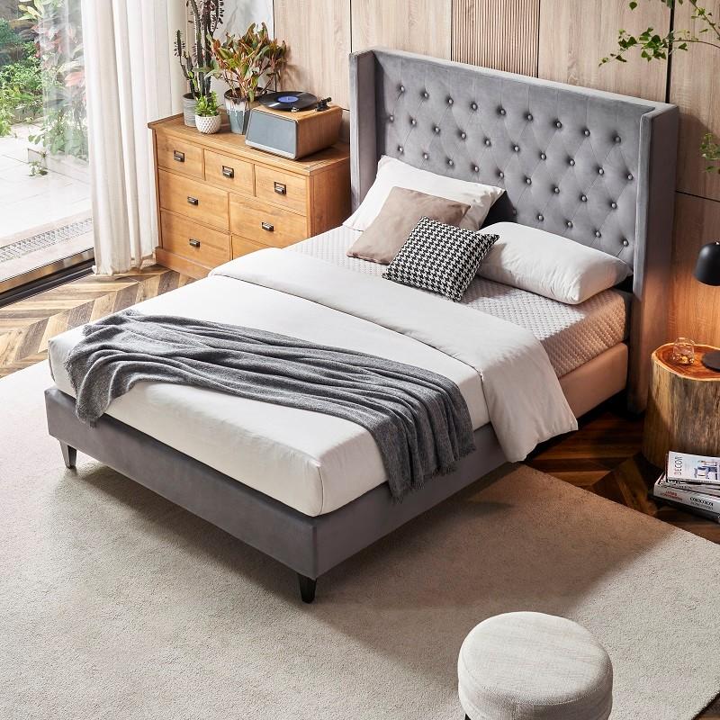 product-MB3390 TIME CAPSULE Classic Modern Velvet Fabric Upholstered Headboard-JLH-img-1