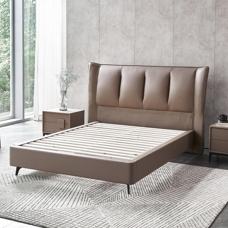 MP2802 TIME CAPSULE Luxury Comfortable Real Leather Bed Frame With Headboard