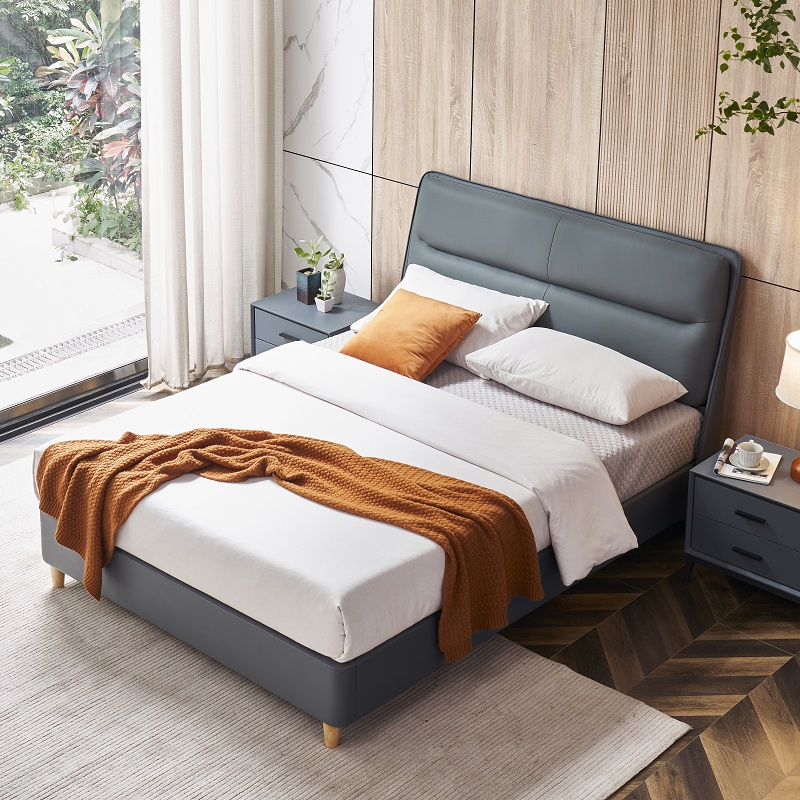 product-MP2809 TIME CAPSULE Classic Unique Design Leather Bed Frame With Headboard-JLH-img-1