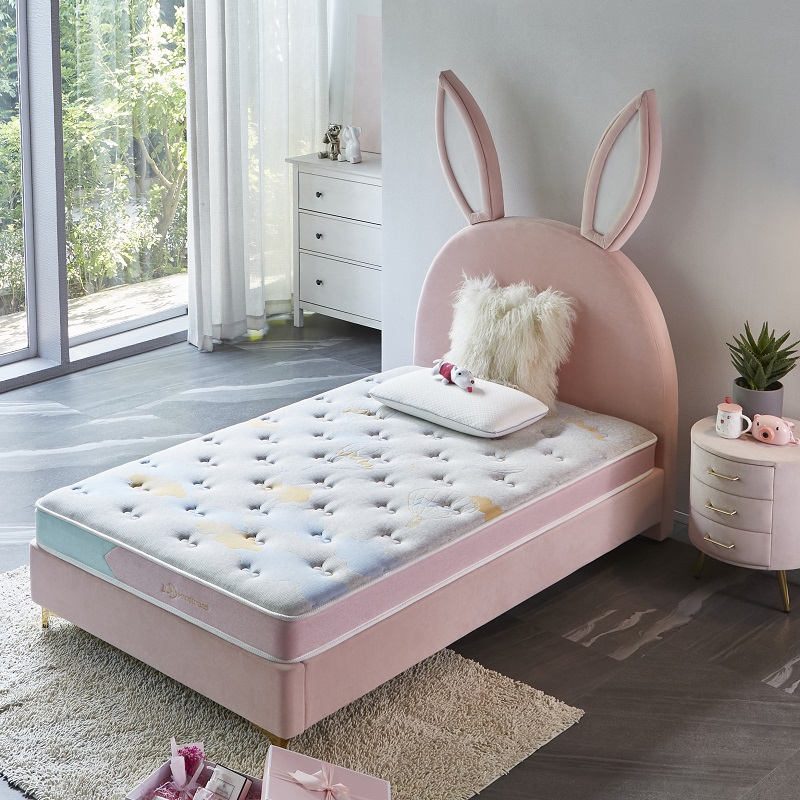 product-MB2835 TIME CAPSULE Lovely Upholstered Bed Frame With Headboard For Children-JLH-img-1