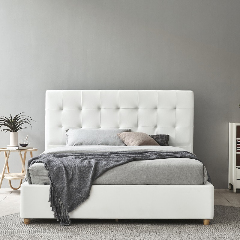 product-MB3332 TIME CAPSULE Modern Upholstered Storage Leather Bed Frame With Headboard-JLH-img
