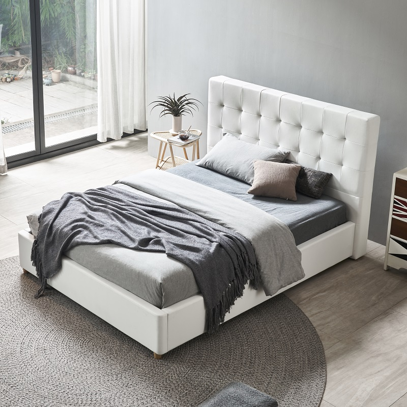 product-JLH-MB3332 TIME CAPSULE Modern Upholstered Storage Leather Bed Frame With Headboard-img-1