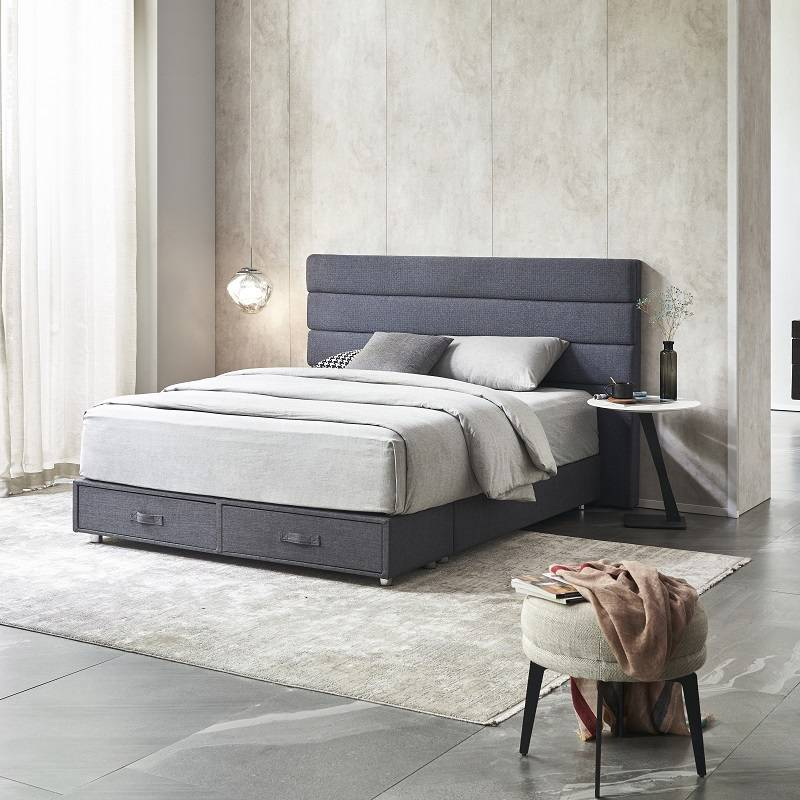 MB3359 TIME CAPSULE Home Furniture Simple Storage Designs Bed Frame With Headboard