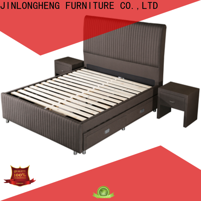 Custom basic metal bed frame factory with softness
