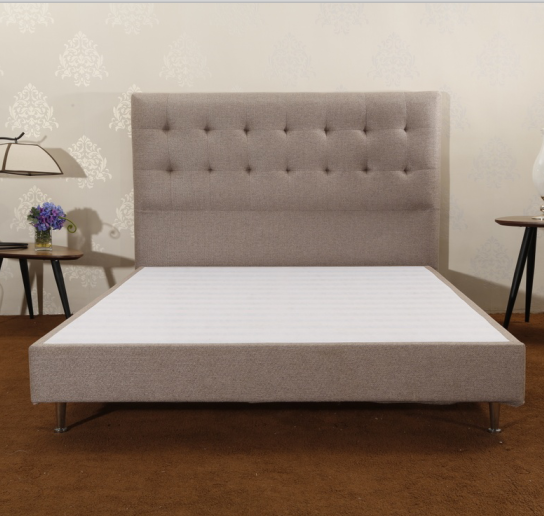 CJ-7 | JLH Modern Adjustable Fabric Wooden Bed Frame / Easy Assembly / Strong Wood Slat Support-1