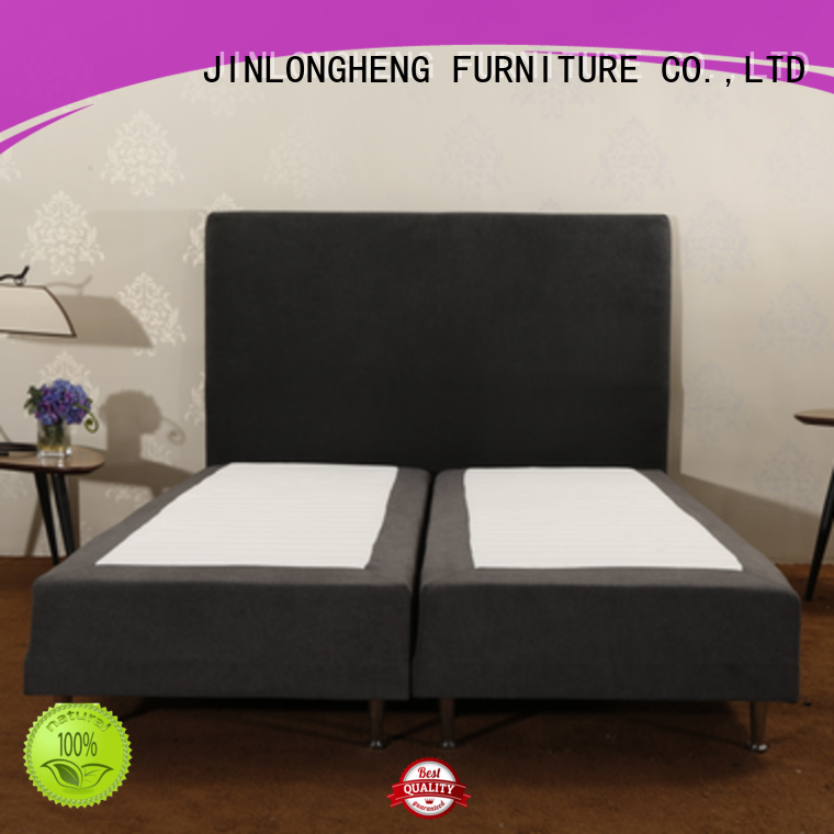 JLH black leather headboard for business with elasticity