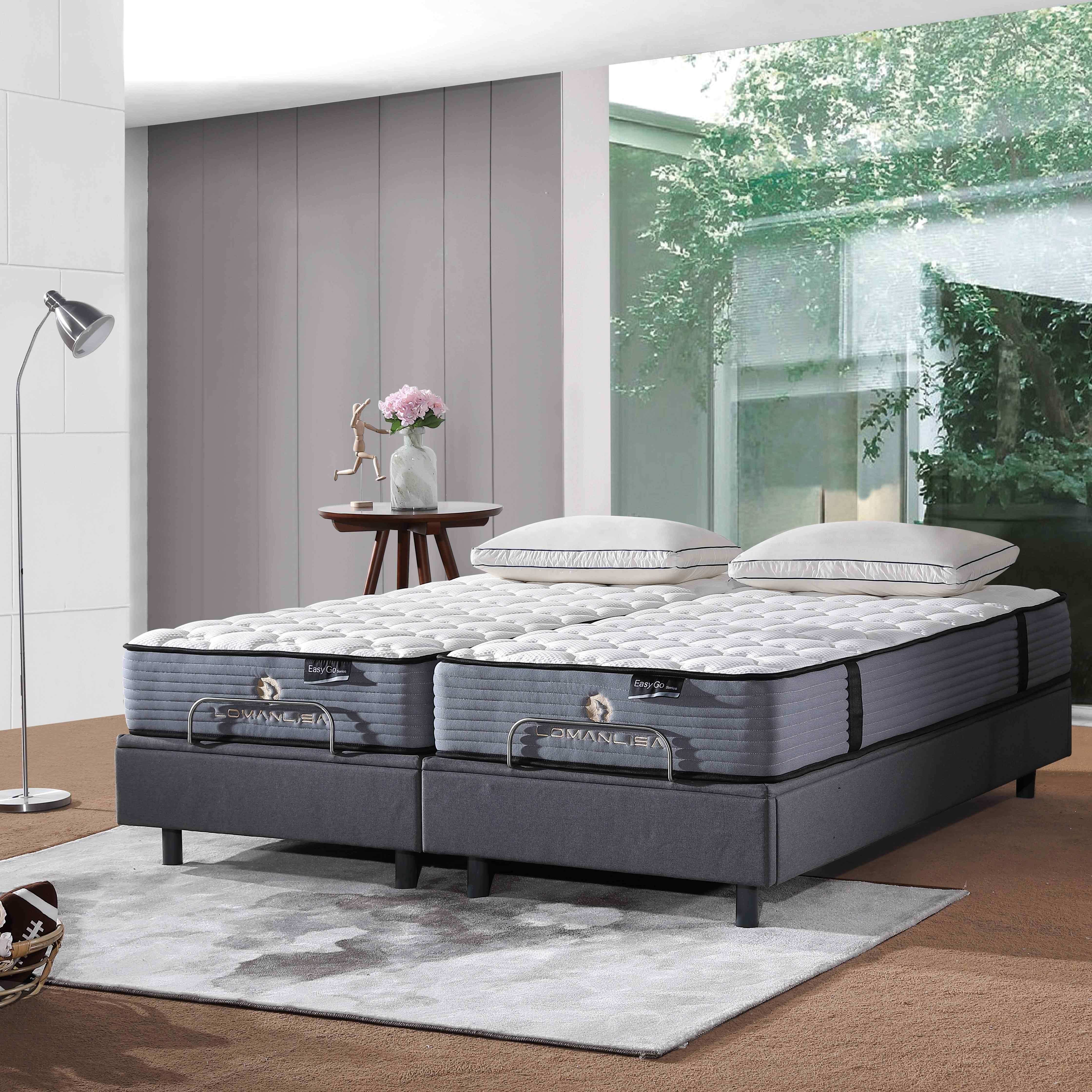 JLH 2018 Hand Tufted Double Spring Latex Mattresses China with High Quality Ice Silk Fabric image2