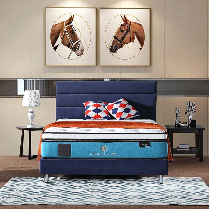 JLH 2018 Gel Memory Foam Double Layers Pocket Spring Mattress for Home Double Spring Mattresses image3