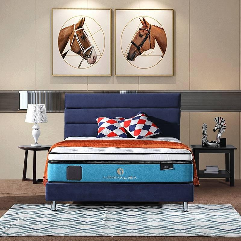 2018 Gel Memory Foam Double Layers Pocket Spring Mattress for Home