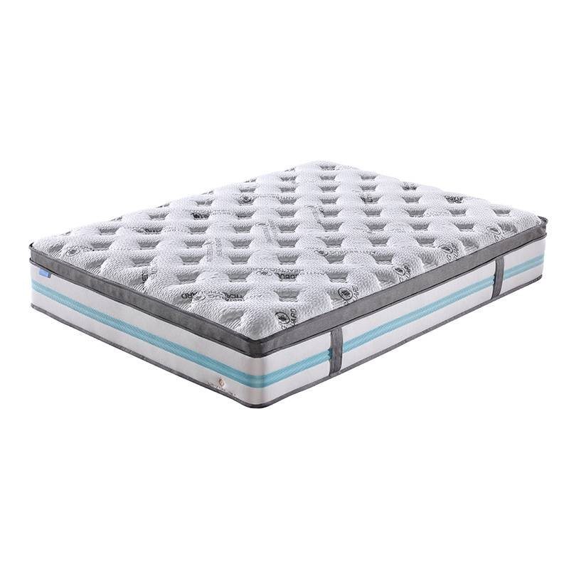 JLH Reasonable and Fashionable High Density Soft Convoluted Foam 5 Zones Mattress with Double Layers Pocket Spring Double Spring Mattresses image1