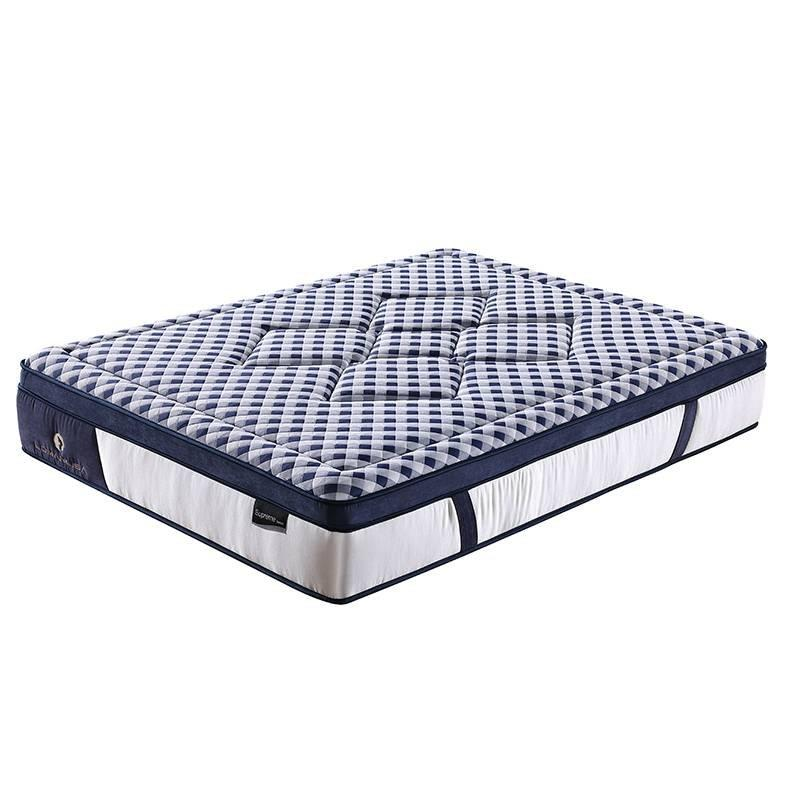 Literary Style Natural Latex 5 Zones Wave Pocket Spring Rolling Mattress
