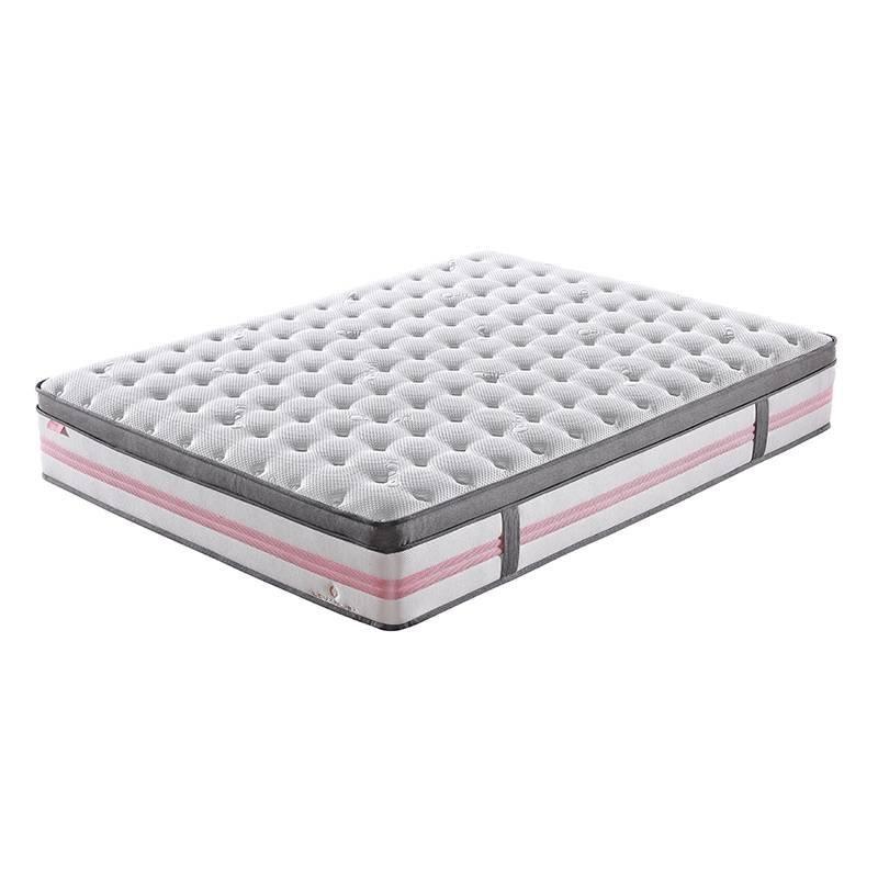 Euro Top Design Princess Pink 5 Zoned Wool Darcon Foam Pocket Spring Mattress with Anti-Mite Function